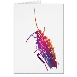 Cartão Barata colorida