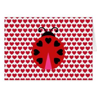 Cartão Barato do teste padrão dos corações do dia dos