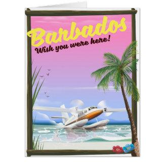Cartão Barbados - desejo você estava aqui!