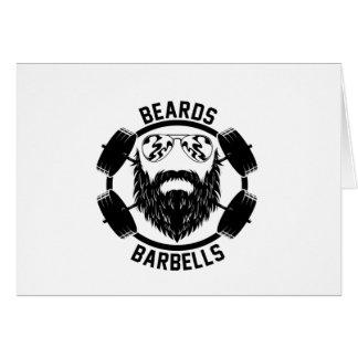 Cartão barbas dos barbells