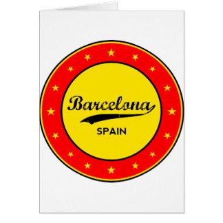 Cartão Barcelona, Spain, circle