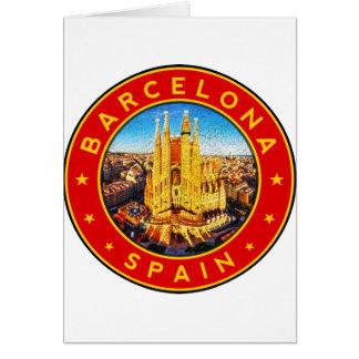 Cartão Barcelona, Spain, circle, red
