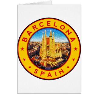 Cartão Barcelona, Spain, circle, yellow
