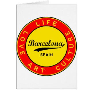 Cartão Barcelona, Spain, red circle, art