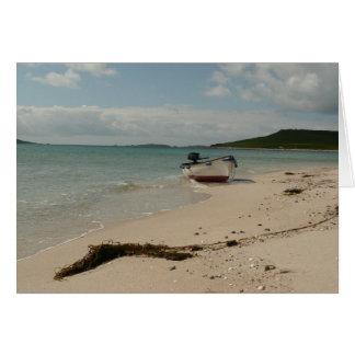 Cartão Barco da ilha