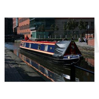Cartão barco de canal