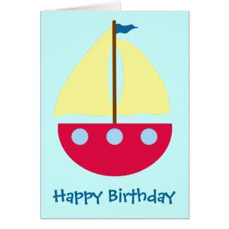 Cartão Barco de navigação