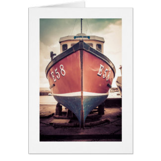 Cartão Barco de pesca em Lyme Regis, Reino Unido