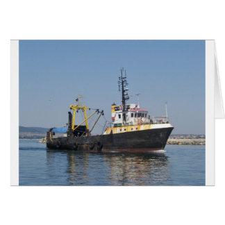 Cartão Barco de pesca listado oxidação