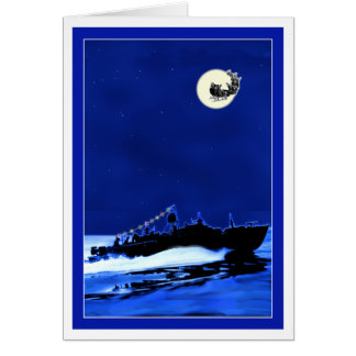 Cartão Barco de pinta ChristmasCard 4