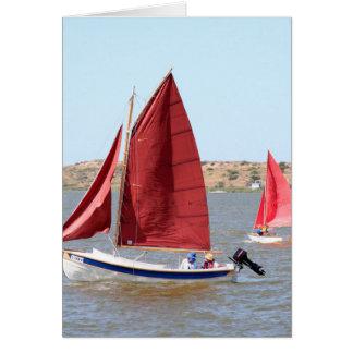 Cartão Barco de vela de madeira