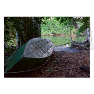 Cartão Barco no parque nacional de Corcovado
