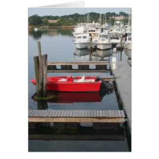 Cartão Barco vermelho em Gloucester