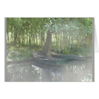 Cartão Barcos a remos no jardim de Monet, France