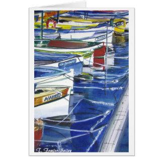 Cartão Barcos de Amalfi Italia entrados