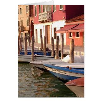 Cartão Barcos de Murano