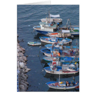 Cartão Barcos de pesca de Sorrento
