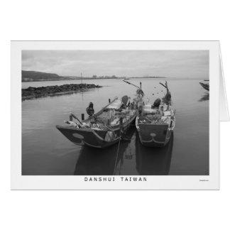 Cartão Barcos de pesca em Danshui, Formosa
