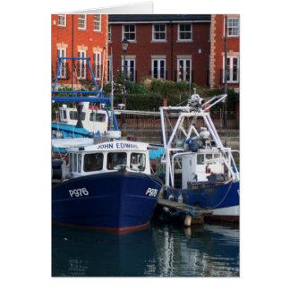Cartão Barcos de pesca, Portsmouth, Inglaterra