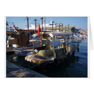 Cartão Barcos de pesca turcos
