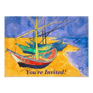 Cartão Barcos de Van Gogh na praia de Saintes-Maries