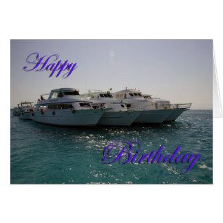 Cartão Barcos do mergulho do feliz aniversario