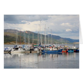 Cartão Barcos em Kyleakin, ilha de Skye, Scotland