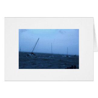 Cartão Barcos na tempestade