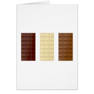 Cartão Bares de chocolate
