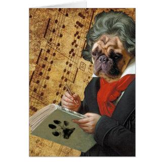 Cartão Barkthoven - o pug de Beethoven