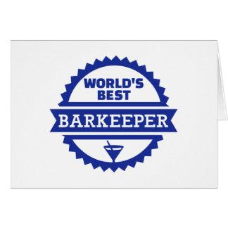 Cartão Barman do barkeeper do mundo o melhor