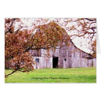 Cartão barn~ dos outeiros do ~Old