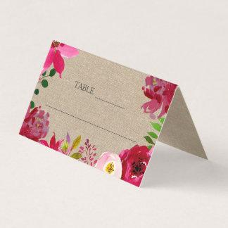Cartão Barraca floral da recepção de casamento de