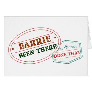 Cartão Barrie feito lá isso