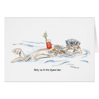 Cartão Barriga até o bar de ostra