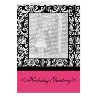 Cartão barroco do damasco