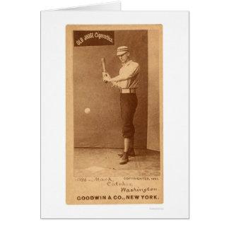 Cartão Basebol 1887 de Connie Mack