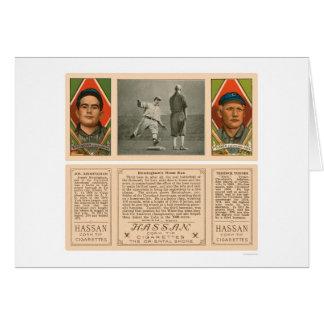 Cartão Basebol 1912 dos Cleveland Indians