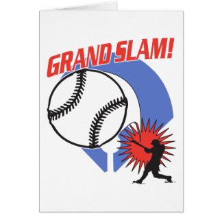 Cartão Basebol do grand slam