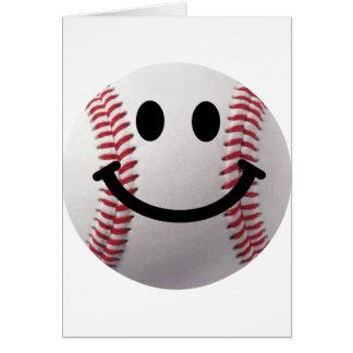 Cartão basebol do smiley