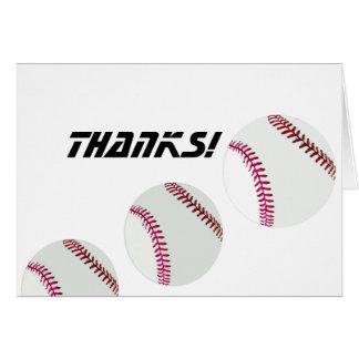 Cartão Basebol ou softball