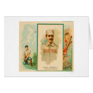 Cartão Basebol raro 1888 de John Morrell