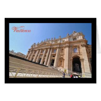 Cartão Basílica de San Pietro no vaticano, Roma, Italia