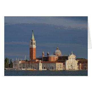 Cartão Basílica em Veneza em Italia