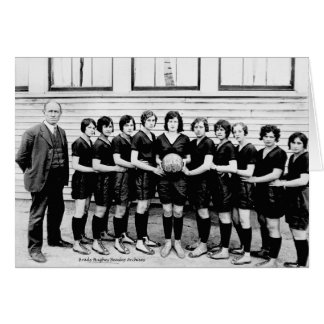 Cartão Basquetebol 1930 das meninas de Dibrill