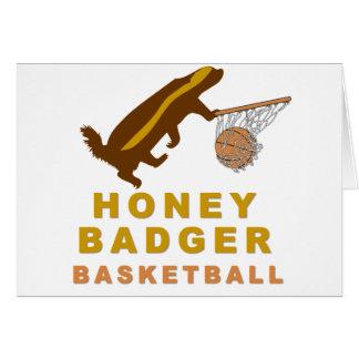 Cartão Basquetebol do texugo de mel
