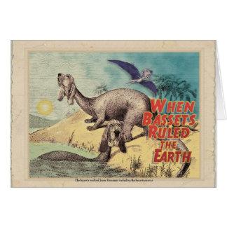 Cartão Basset-o-saurus: A origem dos bassets