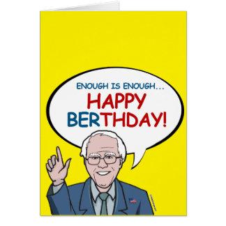 Cartão Bastante é bastante: Berthday feliz