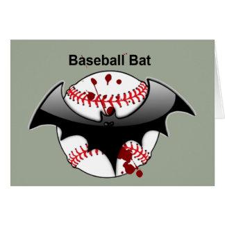 Cartão Bastão de beisebol do basebol do bastão……