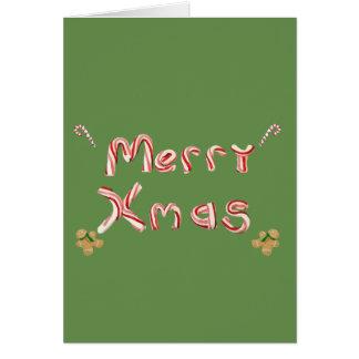 Cartão Bastão de doces do Feliz Natal